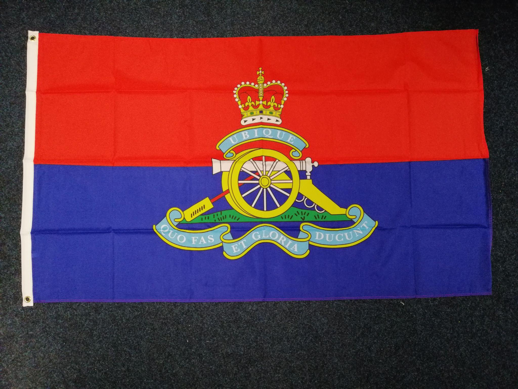ROYAL ARTILLERY REGIMENT 5ft X 3ft Flag 100d PREMIUM Polyester FREE P/&P